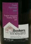 Bookers Vineyard label